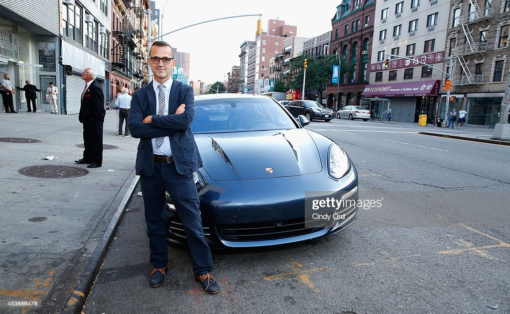 <a gi-track='captionPersonalityLinkClicked' href=/galleries/search?phrase=Steven+Kolb&family=editorial&specificpeople=854812 ng-click='$event.stopPropagation()'>Steven Kolb</a>, Chief Executive Officer at CFDA poses with a Porshe Panamera 4S at the CFDA Celebrates Fashion Targets Breast Cancer 20th Anniversary event with Maria Sharapova, presented by Porsche at The New Museum on August 20, 2014 in New York City.