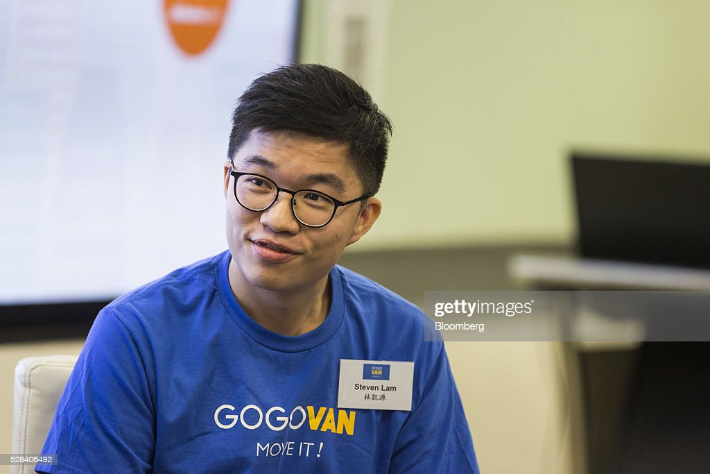 Steven Lam, chief executive officer of GoGoVan Ltd., attends a news conference in Hong Kong, China, on Thursday, May 5, 2016. Alibaba Group Holding Ltd.'s HK$1 billion fund for Hong Kong entrepreneurs is investing in GoGoVan, a hauling and delivery service that's one of the city's biggest startups, and other online services. Photographer: Justin Chin/Bloomberg via Getty Images