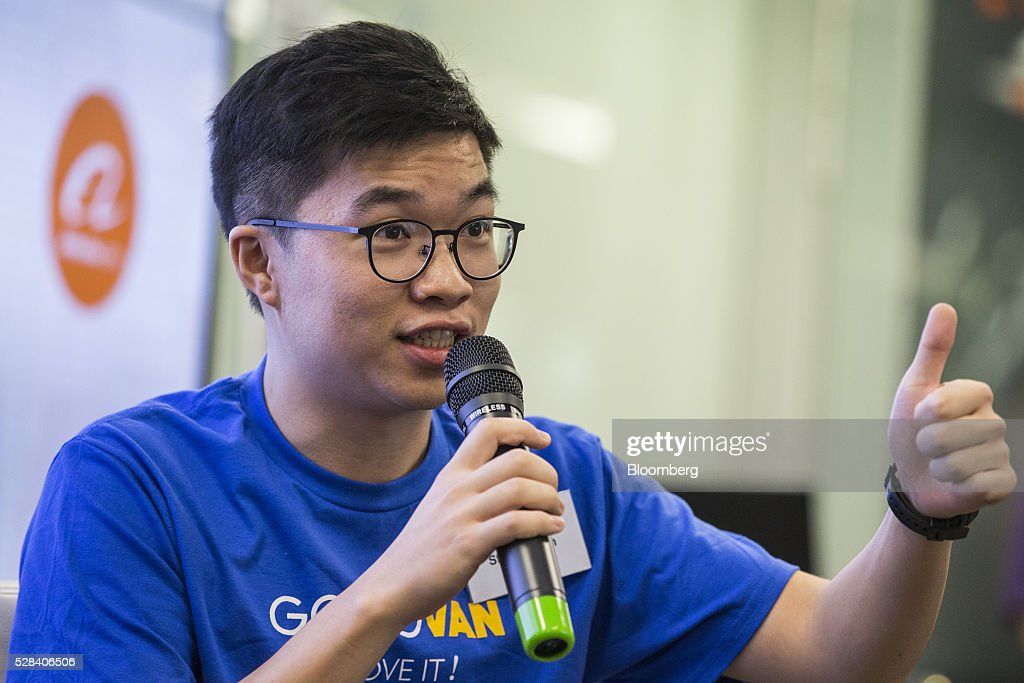 Steven Lam, chief executive officer of GoGoVan Ltd., speaks during a news conference in Hong Kong, China, on Thursday, May 5, 2016. Alibaba Group Holding Ltd.'s HK$1 billion fund for Hong Kong entrepreneurs is investing in GoGoVan, a hauling and delivery service that's one of the city's biggest startups, and other online services. Photographer: Justin Chin/Bloomberg via Getty Images