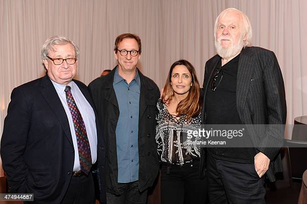 Steven Lavine Tim Disney Neda Disney and John Baldessari attend CalArts Art Benefit And Auction Los Angeles Opening Reception At Regen Projects on...