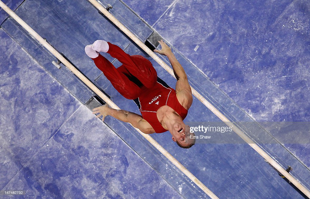 Steven Legendre competes on the parallel bars during day 3 of the 2012 U.S. Olympic Gymnastics Team Trials at HP Pavilion on June 30, 2012 in San Jose, California.