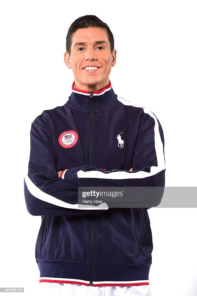 Steven Lopez who competes in Taekwondo poses for a portrait at the USOC Rio Olympics Shoot at Quixote Studios on November 19 2015 in Los Angeles...