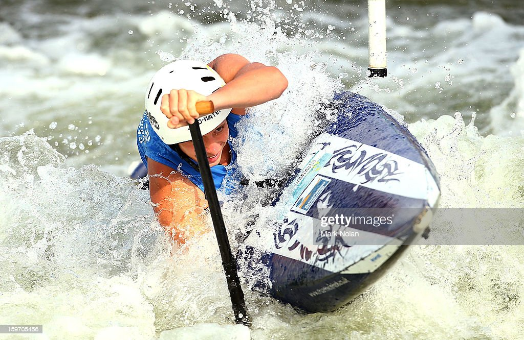 Steven Lowther of Australia competes in the Men's Canoe during day four of the Australian Youth Olympic Festival at the Penrith White Water Stadium on January 19, 2013 in Sydney, Australia.