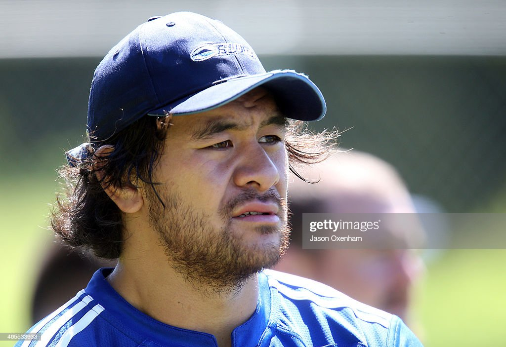 <a gi-track='captionPersonalityLinkClicked' href=/galleries/search?phrase=Steven+Luatua&family=editorial&specificpeople=6164979 ng-click='$event.stopPropagation()'>Steven Luatua</a> during an Auckland Blues Super Rugby training session at Unitec on January 28, 2014 in Auckland, New Zealand.