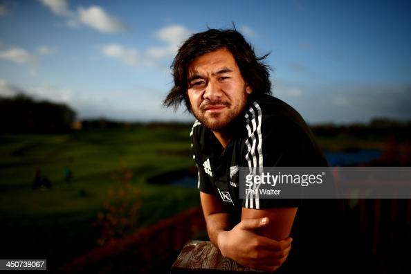 Steven Luatua of the All Blacks poses for a portrait at the Castleknock Golf Club following a New Zealand All Blacks training session on November 20...