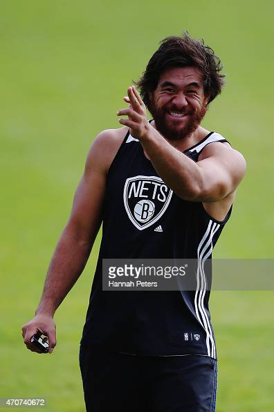 Steven Luatua of the Blues walks off following a Blues training session at Unitec on April 23 2015 in Auckland New Zealand
