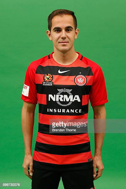 Steven Lustica poses during the Western Sydney Wanderers ALeague headshots session at Fox Studios on September 5 2016 in Sydney Australia