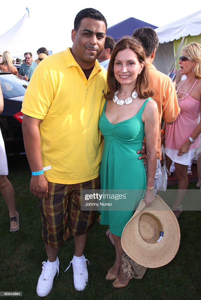 Steven Marcano and Jean Shafiroff attend the closing day of the Mercedes-Benz Polo Challenge at Blue Star Jets Field at Two Trees Farm on August 22, 2009 in Bridgehampton, New York.