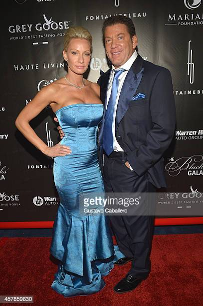 Steven Mariano and wife attend Blacks' Annual Gala at Fontainebleau Miami Beach on October 25 2014 in Miami Beach Florida
