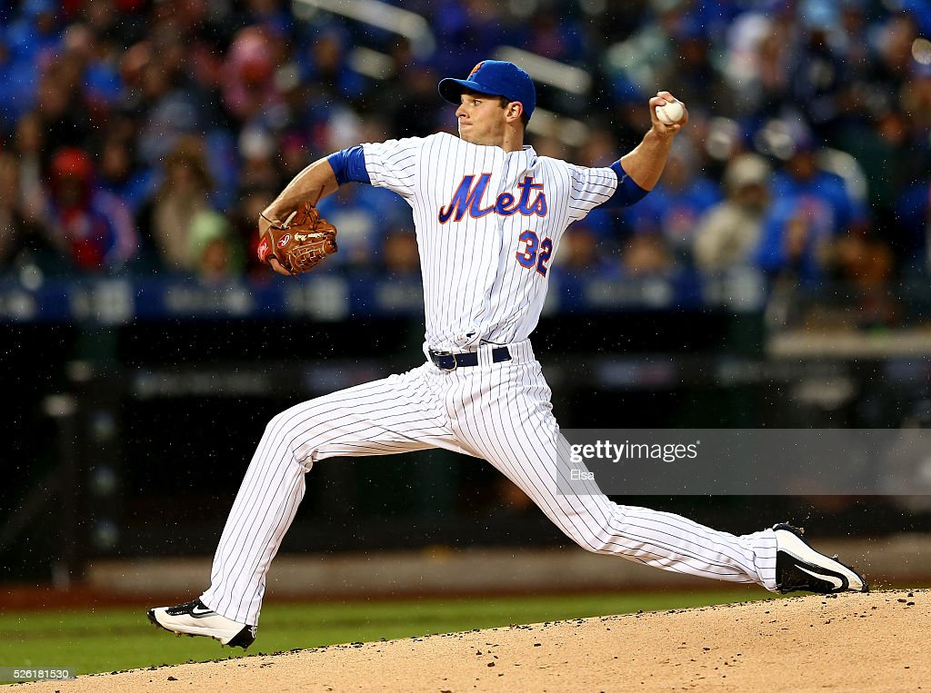 <a gi-track='captionPersonalityLinkClicked' href=/galleries/search?phrase=Steven+Matz&family=editorial&specificpeople=12510614 ng-click='$event.stopPropagation()'>Steven Matz</a> #32 of the New York Mets delivers a pitch in the first inning against the San Francisco Giants at Citi Field on April 29, 2016 in the Flushing neighborhood of the Queens borough of New York City.