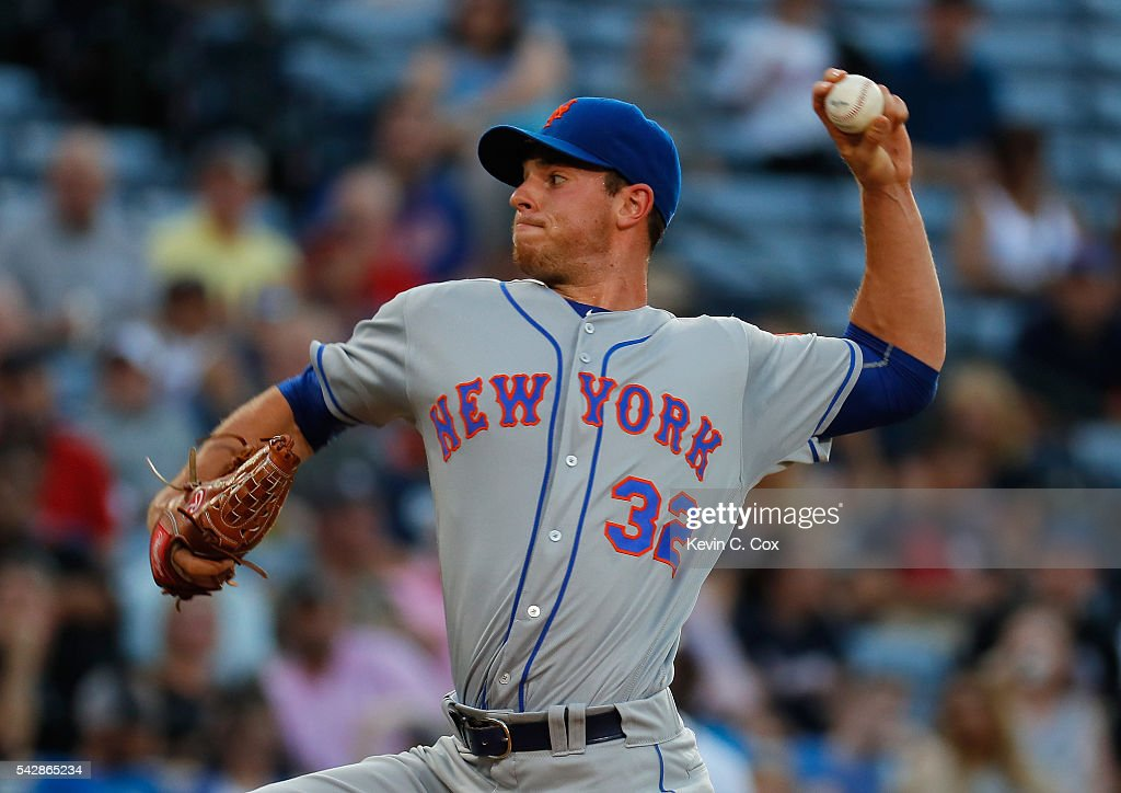 <a gi-track='captionPersonalityLinkClicked' href=/galleries/search?phrase=Steven+Matz&family=editorial&specificpeople=12510614 ng-click='$event.stopPropagation()'>Steven Matz</a> #32 of the New York Mets pitches in the second inning against the Atlanta Braves at Turner Field on June 24, 2016 in Atlanta, Georgia.