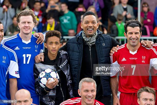 Steven McManaman Jaden Smith Will Smith and Luis Figo attend UEFA's annual festival which comes to London to coincide with Wembley hosting the...