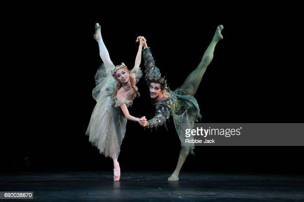 Steven McRae as Oberon and Akane Takada as Titania in the Royal Ballet's production of Frederick Ashton's The Dream at the Royal Opera House on June...