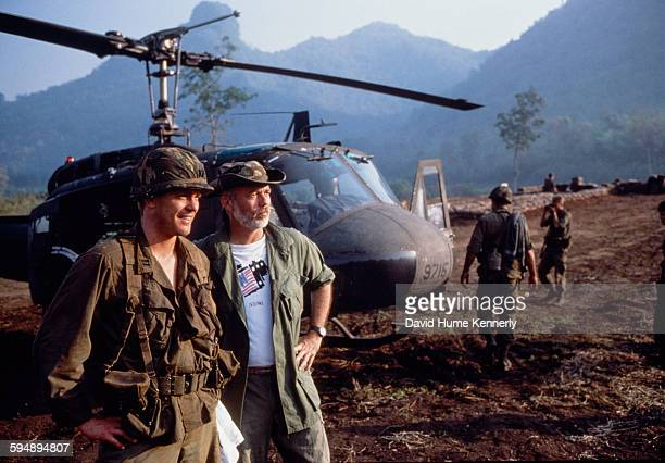 Steven Meigs Ford son of President Gerald Ford on the set of the movie 'Shooter' near the Kwai River with executive producer and photojournalist...