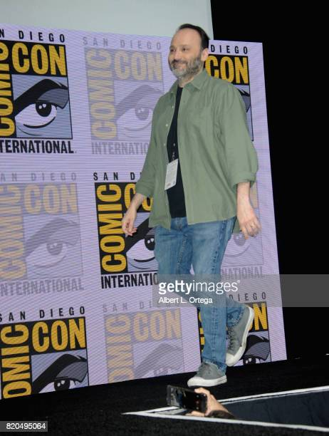 Steven Molaro walks onstage at ComicCon International 2017 'The Big Bang Theory' panel at San Diego Convention Center on July 21 2017 in San Diego...