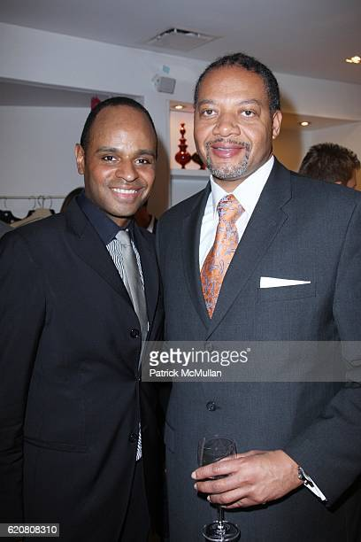 Steven Moore and Andrew Givens attend TRACY REESE Secret Garden Party at Tracy Reese Boutique on March 27 2008 in New York City