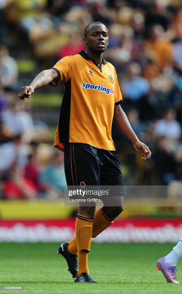 Steven Mouyokolo of Wolverhampton Wanderers in action during the Pre Season Friendly match between Wolverhampton Wanderers and Atletico Blbao at Molineux on August 7, 2010 in Wolverhampton, England.