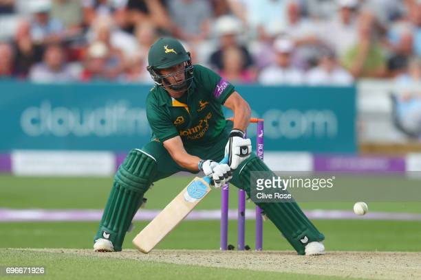 Steven Mullaney of Nottinghamshire in action during the Royal London OneDay Cup Semi Final between Essex and Nottinghamshire at Cloudfm County Ground...