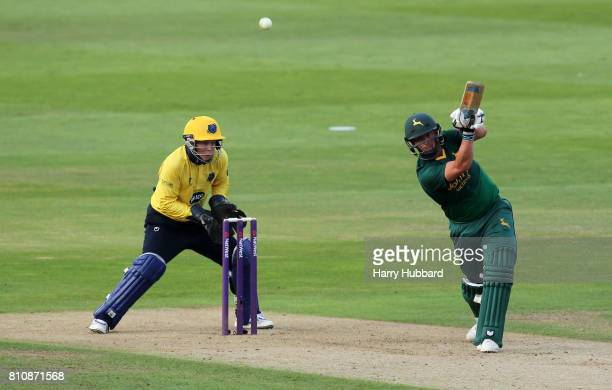 Steven Mullaney of Notts Outlaws in action during the Natwest T20 Blast match between Birmingham Bears and Notts Outlaws at Edgbaston on July 8 2017...