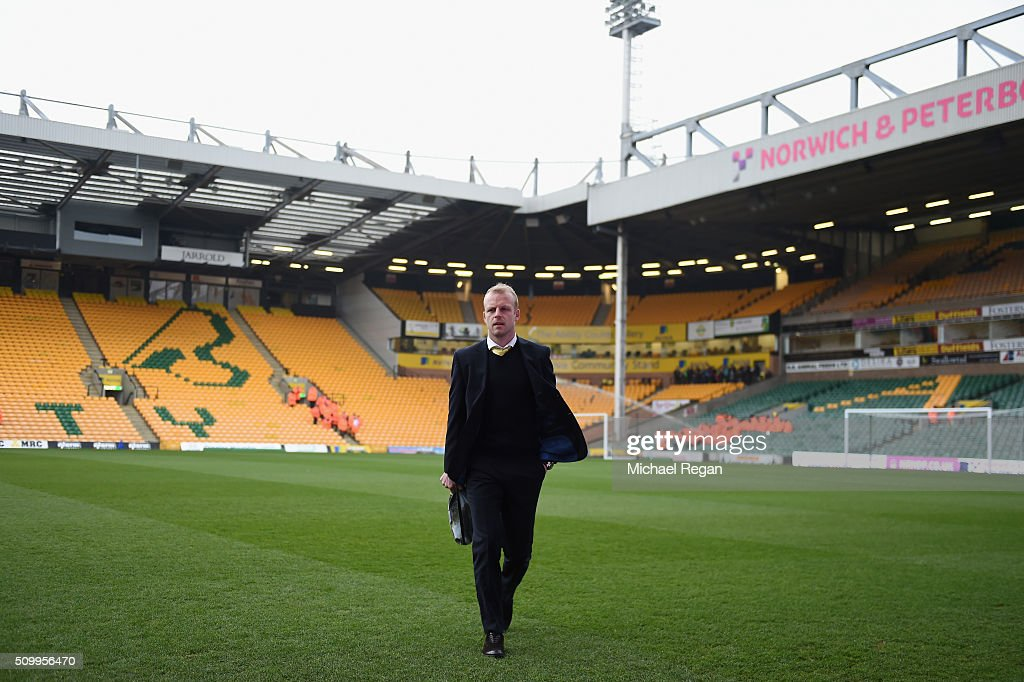 <a gi-track='captionPersonalityLinkClicked' href=/galleries/search?phrase=Steven+Naismith&family=editorial&specificpeople=4130861 ng-click='$event.stopPropagation()'>Steven Naismith</a> of Norwich City is seen on arrival at the stadium prior to the Barclays Premier League match between Norwich City and West Ham United at Carrow Road on February 13, 2016 in Norwich, England.