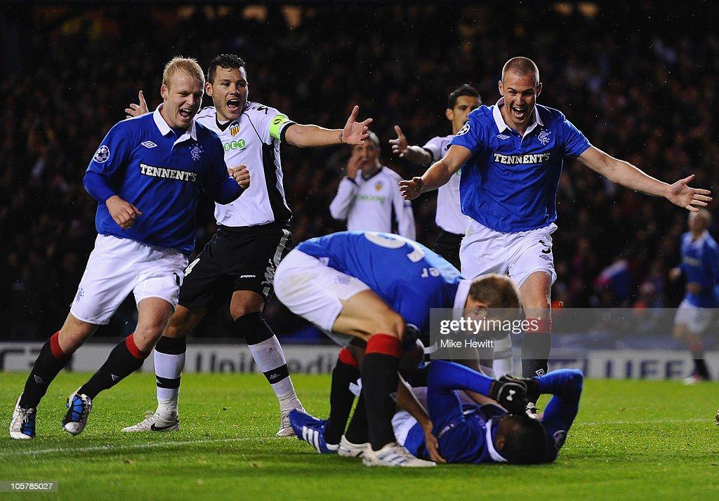 Glasgow Rangers FC v Valencia - UEFA Champions League