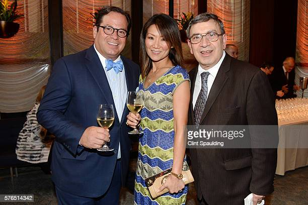 Steven Nigro Jin Bae and Giuseppe Marotta attend The Four Seasons A Celebration of 57 Years in Manhattan event at The Four Seasons Restaurant on July...