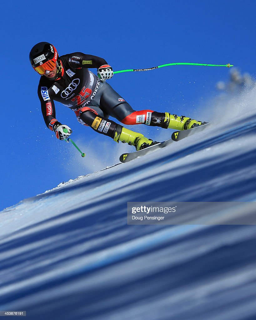<a gi-track='captionPersonalityLinkClicked' href=/galleries/search?phrase=Steven+Nyman&family=editorial&specificpeople=792834 ng-click='$event.stopPropagation()'>Steven Nyman</a> of the United States in action during downhill training for the Birds of Prey Audi FIS Ski World Cup on December 5, 2013 in Beaver Creek, Colorado.