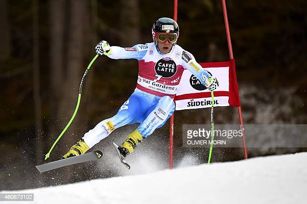 Steven Nyman of the US competes during the FIS Alpine World Cup Men's Downhill on December 19 2014 in Val Gardena AFP PHOTO / OLIVIER MORIN