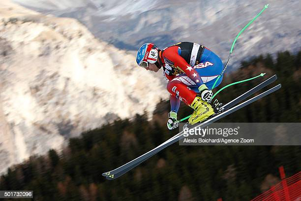 Steven Nyman of the USA competes during the Audi FIS Alpine Ski World Cup Men's Downhill Training on December 17 2015 in Val Gardena Italy