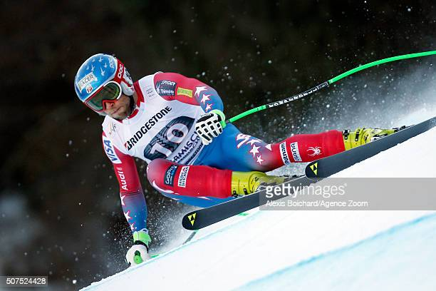 Steven Nyman of the USA competes during the Audi FIS Alpine Ski World Cup Men's Downhill on January 30 2016 in GarmischPartenkirchen Germany