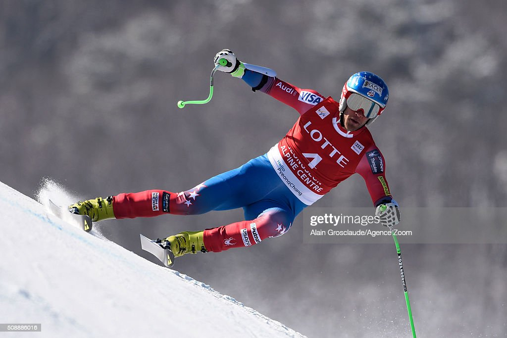 ,<a gi-track='captionPersonalityLinkClicked' href=/galleries/search?phrase=Steven+Nyman&family=editorial&specificpeople=792834 ng-click='$event.stopPropagation()'>Steven Nyman</a> of the USA competes during the Audi FIS Alpine Ski World Cup Men's Super G on January 07, 2016 in Jeongseon, South Korea.