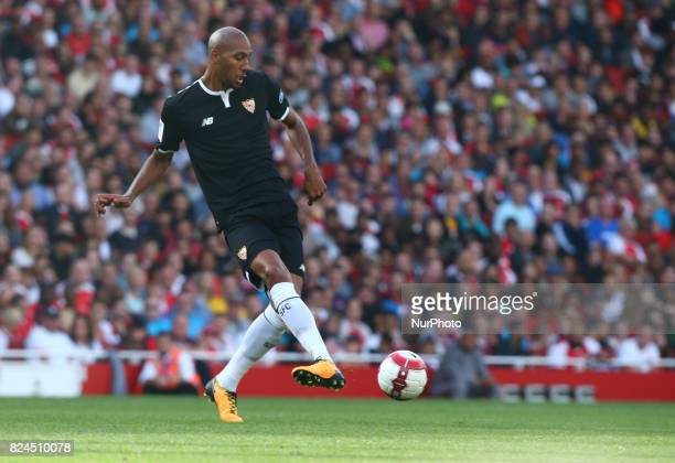 Steven N'Zonzi of Sevilla FC during Emirates Cup match between Arsenal against Savilla FC at Emirates Stadium on 30 July 2017
