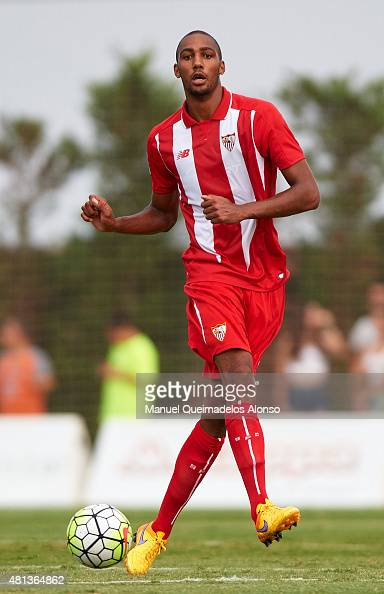 Steven N«Zonzi of Sevilla in action during a Pre Season Friendly match between Sevilla and Alcorcon at Pinatar Arena Stadium on July 19 2015 in San...