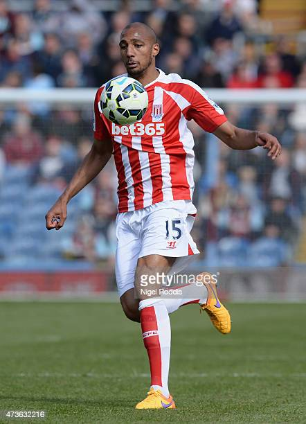 Steven N'Zonzi of Stoke City during the Barclays Premier League match between Burnley and Stoke City at Turf Moor on May 16 2015 in Burnley England