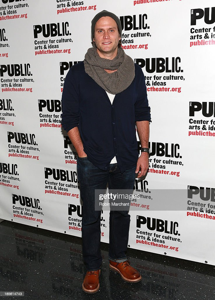 Steven Pasquale attends the opening night celebration of 'Fun Home' at The Public Theater on October 22, 2013 in New York City.