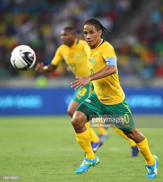 Steven Pienaar during the International Friendly match between South Africa and Senegal at Moses Mabhida Stadium on February 29 2012 in Durban South...