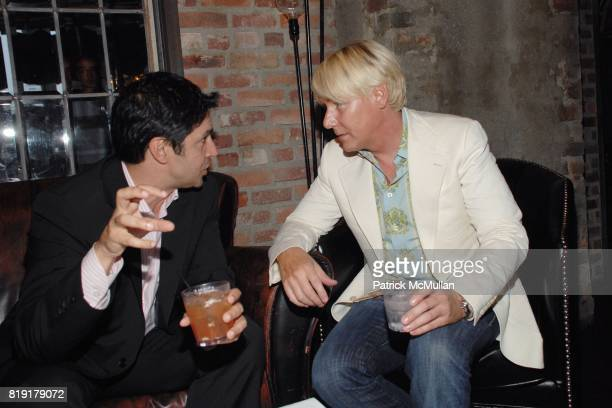 Steven Puri Barclay Butera attend The Supper Club Shepard Fairey's SNO host a Bombay Sapphire Tea Party at The Tea Room on July 20 2010 in Hollywood...