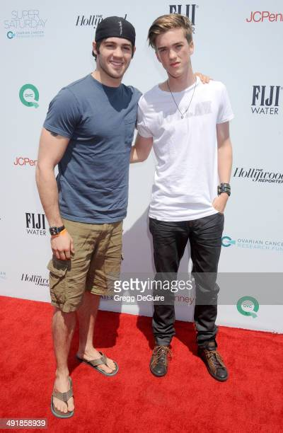 Steven R McQueen and Jessarae Robitaille arrive at the Ovarian Cancer Research Fund's Inaugural Super Saturday LA event at Barker Hangar on May 17...