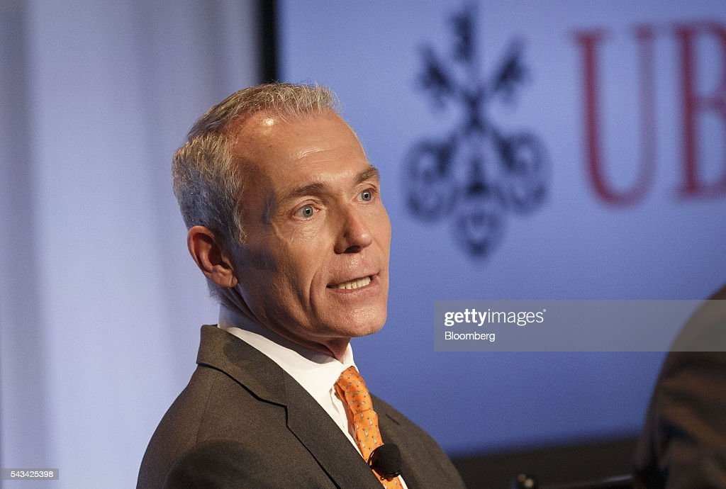 Steven Schroko, head of wealth management for the Americas at UBS Private Bank, speaks during the UBS CIO Global Forum at the Beverly Wilshire Hotel in Beverly Hills, California, U.S., on Tuesday, June 28, 2016. The forum sources experts from all regions of the world to address regional issues affecting global markets. Photographer: Patrick T. Fallon/Bloomberg via Getty Images