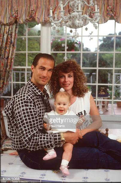 Steven Seagal and his wife actress/supermodel Kelly LeBrock at home when they where married and had their first child They divorced in 1994 April 13...