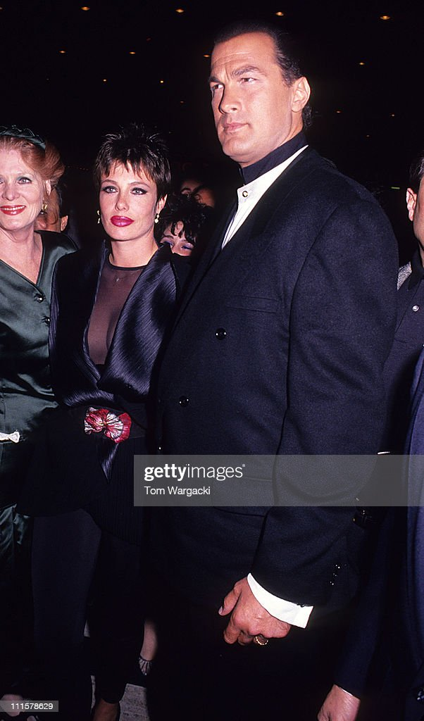 """Steven Seagal and Kelly LeBrock at film premiere of """"Out for Justice' - April"""