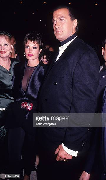 Steven Seagal and Kelly LeBrock at film premiere of 'Out for Justice'