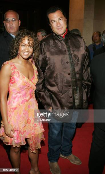 Steven Seagal and Tammy Townsend during A Tribute to Ray Charles Hosted by Morehouse College and Bill Cosby Red Carpet at The Beverly Hilton in...