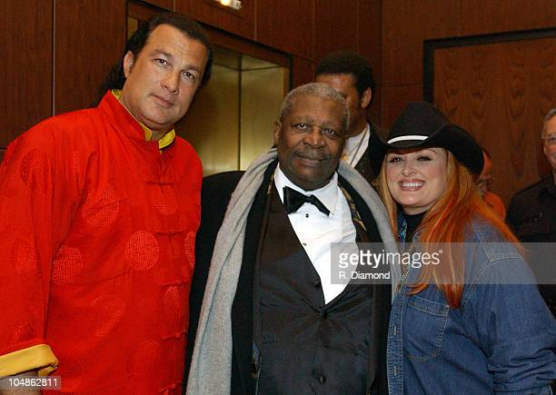 Steven Seagal BB King and Wynonna Judd during BB King Blues Club Grand Opening NashvilleNight 2 in Nashville TN United States