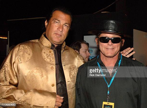 Steven Seagal during 17th Annual Pollstar Concert Industry Awards Backstage at Mandalay Bay Theatre in Las Vegas Nevada United States