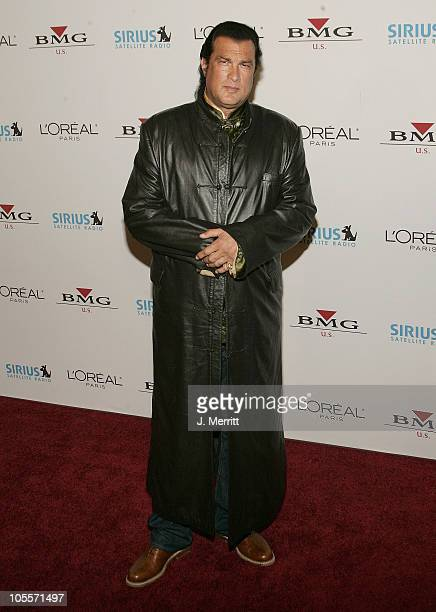 Steven Seagal during Clive Davis 2005 PreGRAMMY Awards Party Arrivals at The Beverly Hills Hotel in Beverly Hills California United States