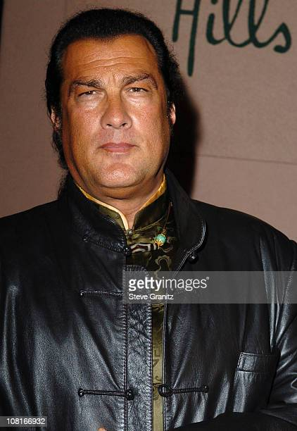Steven Seagal during Clive Davis' 2005 PreGRAMMY Awards Party Arrivals at Beverly Hills Hotel in Beverly Hills California United States