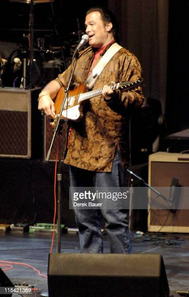 Steven Seagal during Les Paul and Friends in Concert at the Gibson Amphitheatre at Universal City Walk February 7 2006 at Gibson Amphitheatre at...