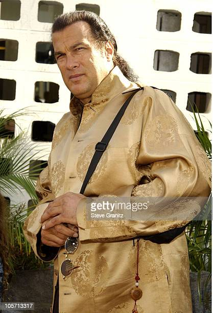 Steven Seagal during 'The Wild Thornberrys Movie' Premiere at Cinerama Dome in Hollywood California United States