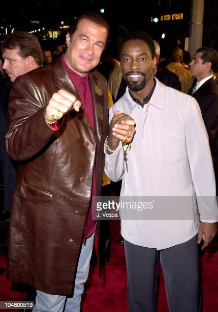 Steven Seagal Isaiah Washington during Exit Wounds Premiere at Mann Village Theater in Westwood California United States